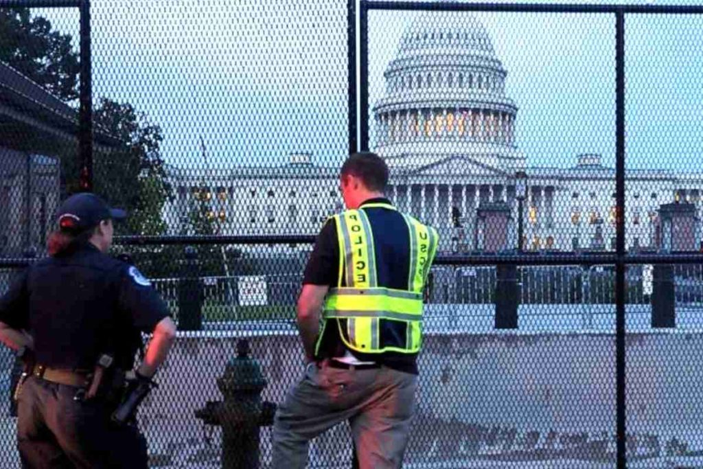 As the District Prepares for a Justice for J6 Protest, Fences Go Up, and Security Is Tightened
