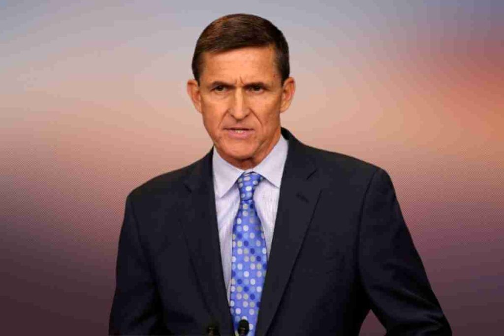 Michael Flynn Spreads Conspiracy Theory on Deep State Putting Vaccines in Salad Dressing (1)